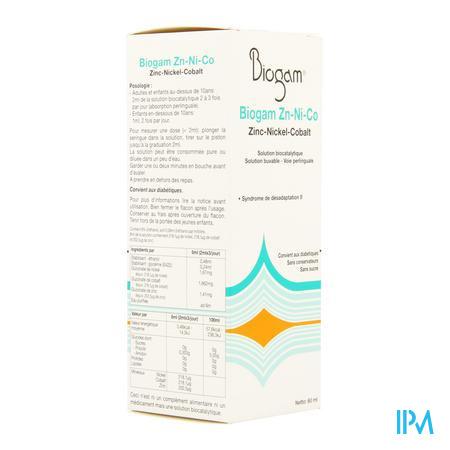 Biogam Zn-ni-co Flacon 60 ml