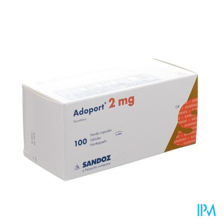 Adoport Sandoz 2,0mg Caps Harde 100 X 2,0mg