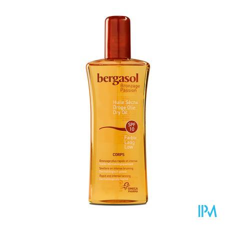 Afbeelding Bergasol Droge Zonne-Olie met SPF 10 voor Lichaam voor Snelle en Intense Bruining Spray 125 ml.
