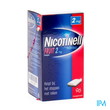 Nicotinell Fruit 2/96 96 kauwgoms