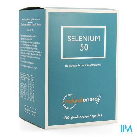 Selenium 50 Natural Energy Caps 180