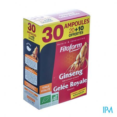 Bioholistic Ginseng Koninginnenbrij 20 + 10 ampoules
