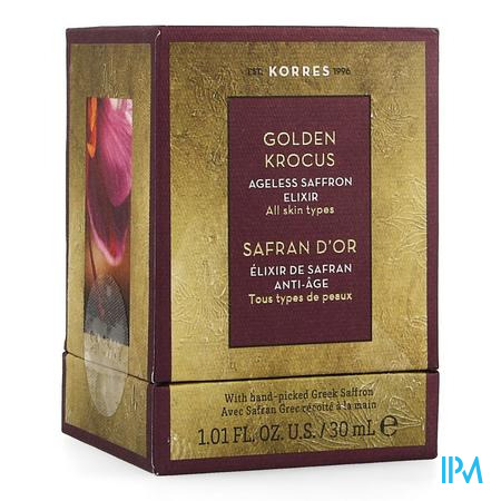 Korres Kf Gouden Krokus Saffron Elixir 30ml