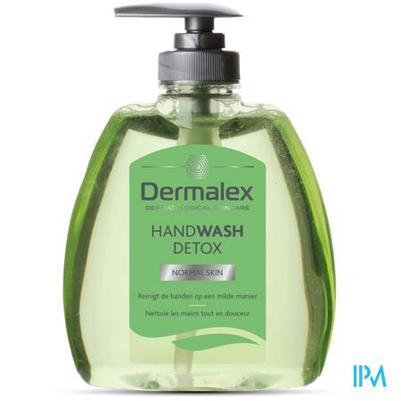 Afbeelding Dermalex Handwash Detox voor Normale Huid -voor Reiniging van de Handen op een Milde Manier- Pompflacon 300 ml .