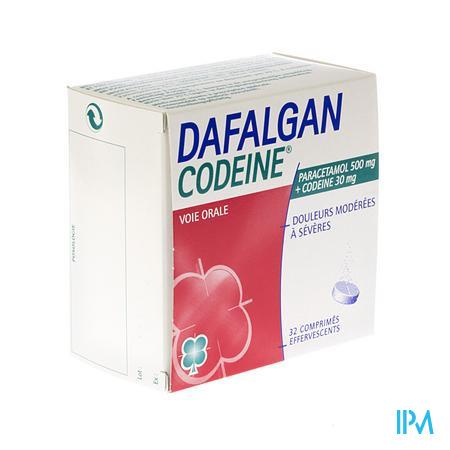 Dafalgan Codeine Eff 500mg Tabl 32