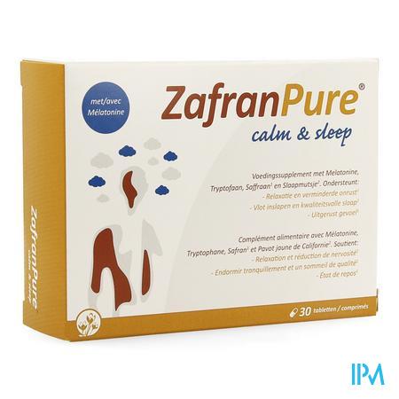Afbeelding ZafranPure Calm and Sleep voor Vlot Inslapen en Kwaliteitsvolle Slaap en Uitgerust Gevoel 30 Tabletten .