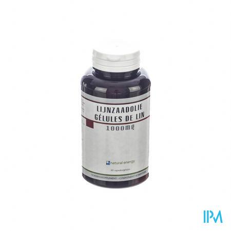 Lijnzaadolie Natural Energy 60 capsules