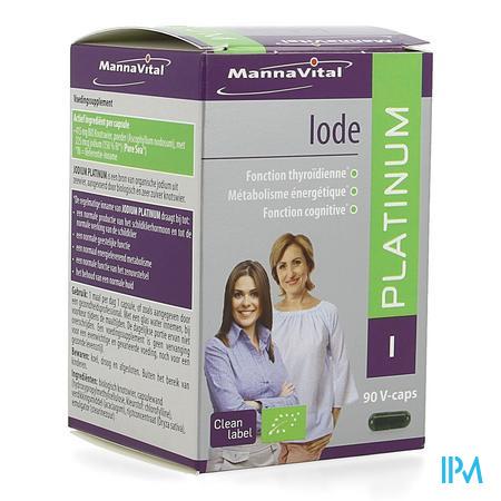 Mannavital Jodium Platinum Bio V-caps 90