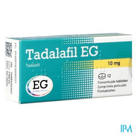 TADALAFIL E.G. 12 TABL 10 MG NF
