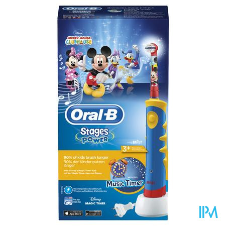 Oral B Plak Control D10511 Mickey Blue