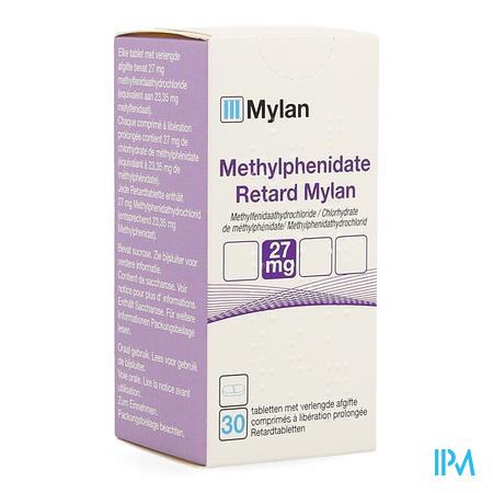 Methylfenidaat Retard Mylan Verl.afg. Tabl 30x27mg