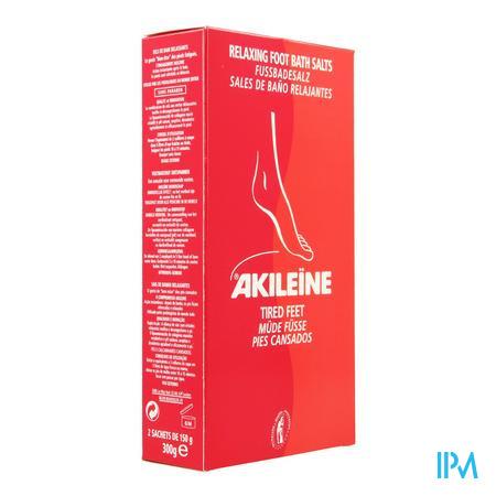Akileine Rood Badzout Voeten Zakje 2x150 gr 101220