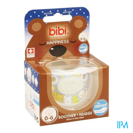 Bibi Sucette Dental Glow In The Dark 0- 6m