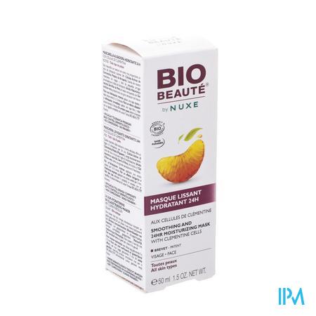 Afbeelding Nuxe Bio Beauté 24 Uur Hydraterend en Gladstrijkend Masker met Clementinecellen voor Gelaat voor Alle Huidtypes Tube 50 ml.