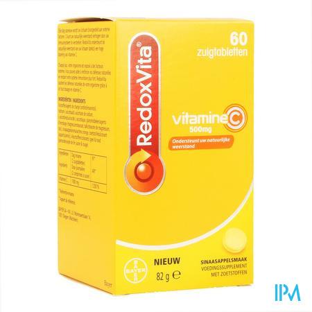 Afbeelding RedoxVita met 500 mg Vitamine C voor Ondersteuning van Uw Natuurlijke Weerstand 60 Zuigtabletten .