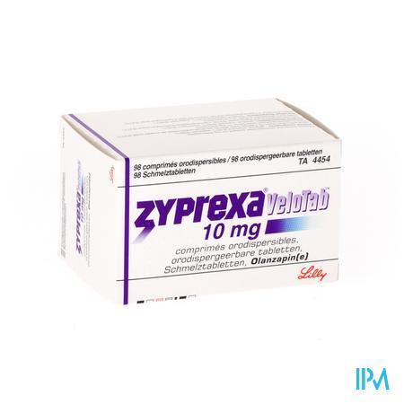 Zyprexa Velotab 10mg Comp Orodisp 98 X 10mg
