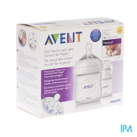 Farmawebshop - AVENT NATURAL ZUIGFLES DUO NATURAL 125ml