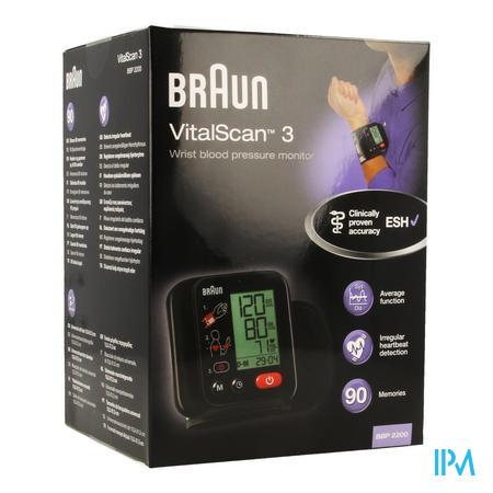 Braun Bloeddrukmeter Pols Bbp2200 Vitalscan 3