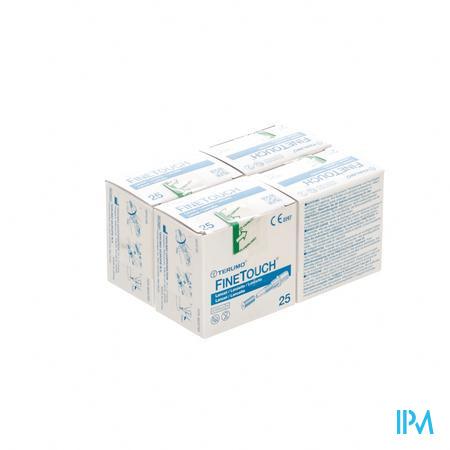 Terumo Finetouch Lancet 4x25 stuks