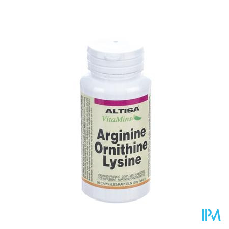 Altisa Arginine-Ornithine-Lysine 60 capsules