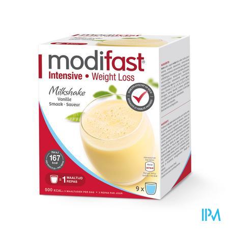Modifast Intensive Milkshake Vanille 9 x 47 g zakjes