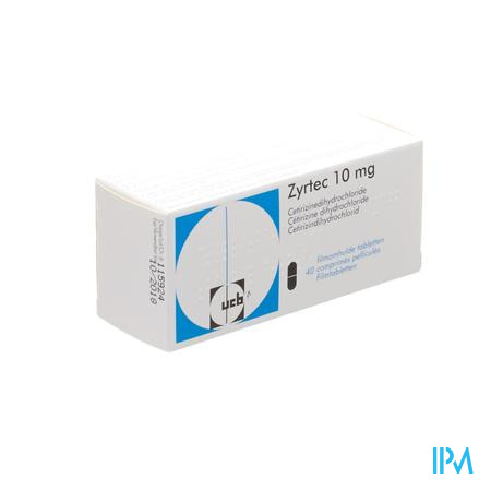 Zyrtec 10mg Impexeco 40 tabletten