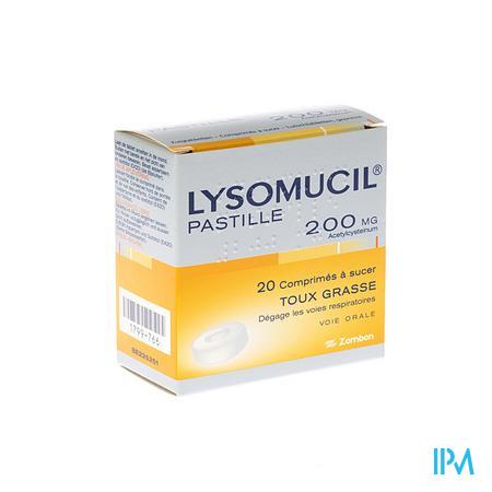 Lysomucil 200 Comprimes A Sucer - ZuigComprimesetten 20