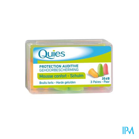 Farmawebshop - QUIES OORDOPPEN MOUSSE 3 PAAR