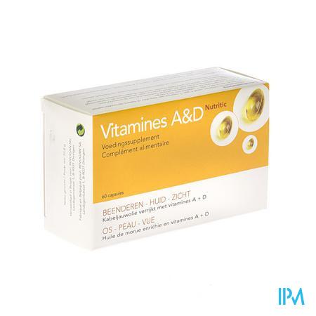 Farmawebshop - NUTRITIC VITAMINE A & D 60 caps