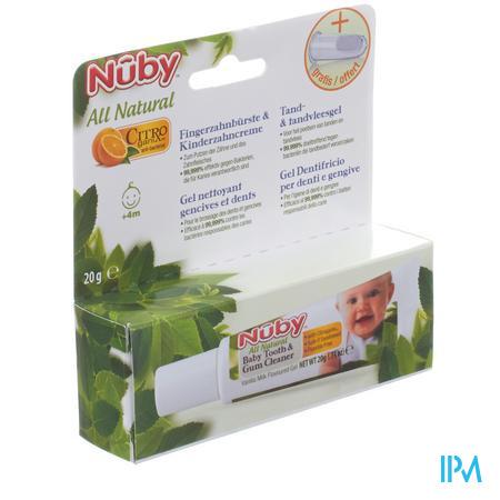 Nuby Citroganics Tandgel + Vingertandenborstel 20 g