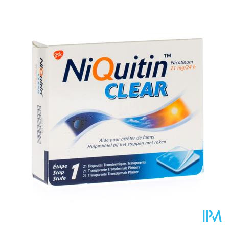 Niquitin Clear 21mg 21 patch 21 pleisters