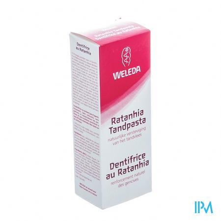 Weleda Tandpasta Ratanhia Roos 75ml