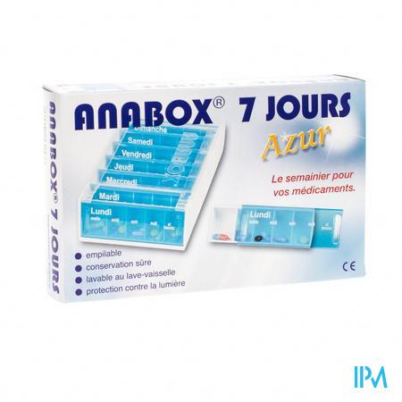 Anabox Pillendoos 7 Dagen Azur Frans 1 stick