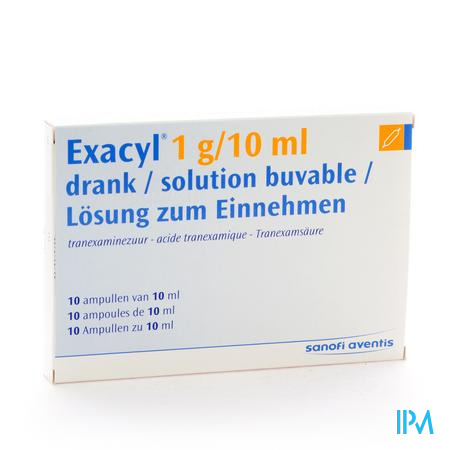 Exacyl Amp Per Os 10x1g/10ml