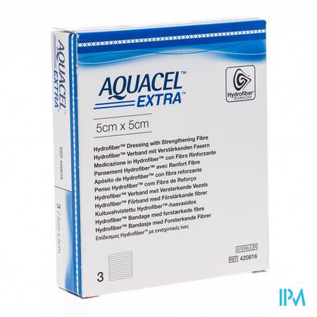 Aquacel Extra Steriel 5x5cm 420816 3 stuks