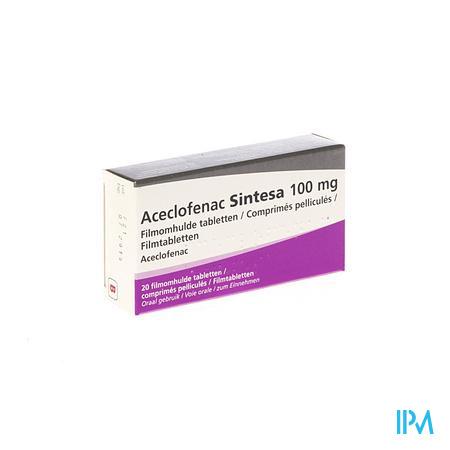 Aceclofenac Sintesa 100mg Comp 20 X 100mg