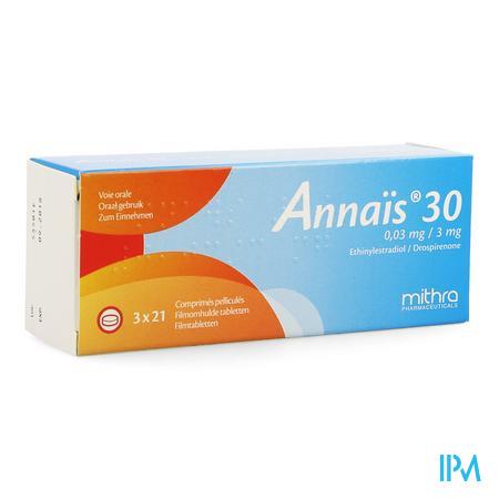 Annais 30 0,03mg/3mg Filmomh Tabl 3 X 21