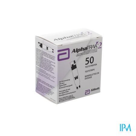 Alphatrak Meten Bloedglucose Test-strip 50