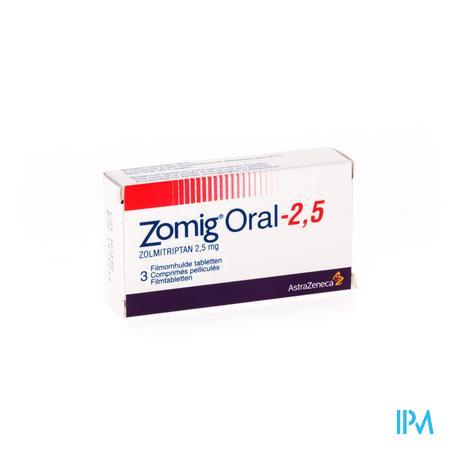 Zomig Oral Tabl 3 X 2,5mg
