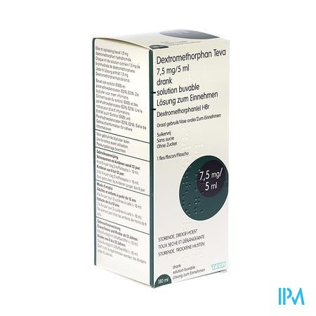 Dextromethorphan Teva Oplossing Per Os 180 ml