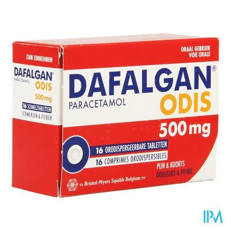 Afbeelding Dafalgan Odis 500 mg 16 Smelttabletten.