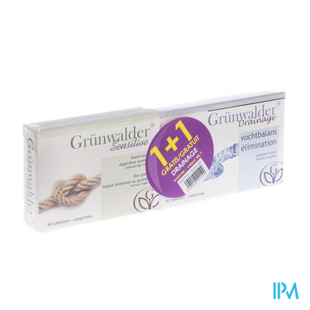 Grunwalder Sensitive + Drainage 60 + 50 tabletten