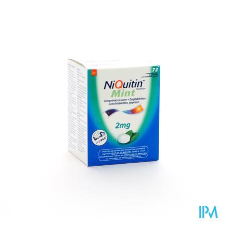 Niquitin Mint 2mg 72 zuigtabletten