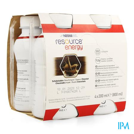 Resource Energy Drink Chocolade 4x200 ml