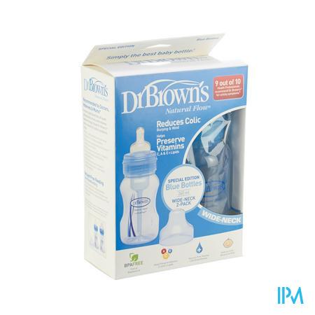 Dr Brown Fles Pp Blauw 2x240 ml