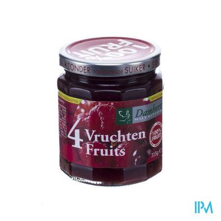 Damhert Confiture 4 vruchten 100 % Zonder Suiker 315 g
