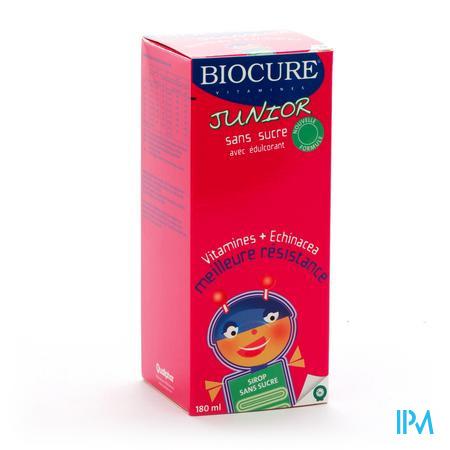 Biocure Junior Sans Sucre 180 ml sirop