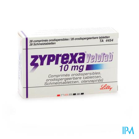 Zyprexa Velotab 10mg Comp Orodisp 28 X 10mg