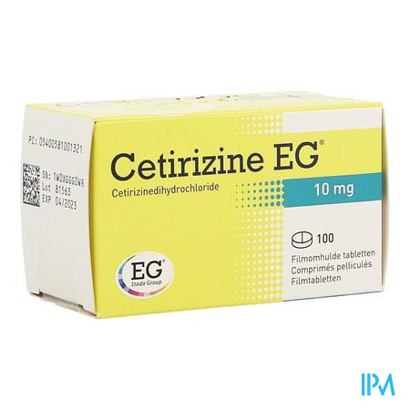 Cetirizine EG Tabletten 100 X 10 mg