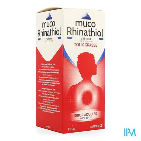 Muco Rhinathiol 5% Sirop Ad sans sucre 250 ml